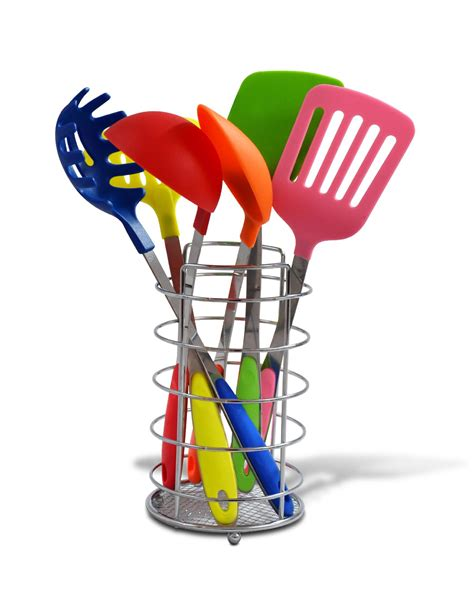 colored kitchen utensils ragalta 7 pc multi color kitchen utensil set with caddy 2332