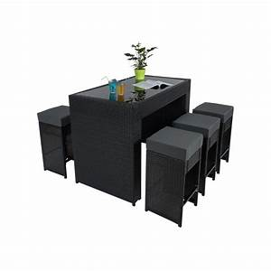 Table De Jardin Tressé : helloshop26 tables de jardin table haute salon de jardin ~ Nature-et-papiers.com Idées de Décoration