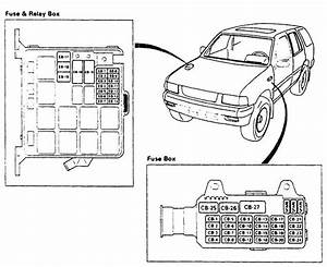 2003 Isuzu Rodeo Window Fuse Box Diagram