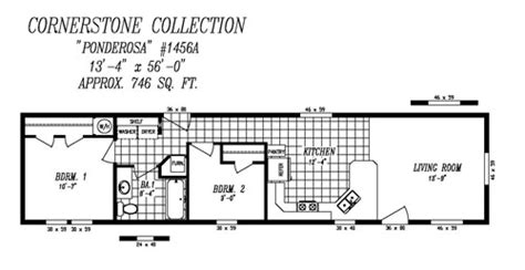 14x40 Mobile Home Floor Plans by 16 X 40 Cabin Floor Plans