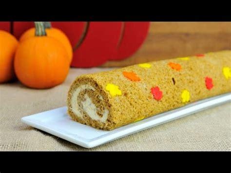 pumpkin leaf cake roll  maple walnut cream cheese