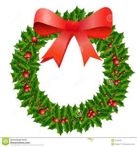 Christmas Holly Wreath Clip Art