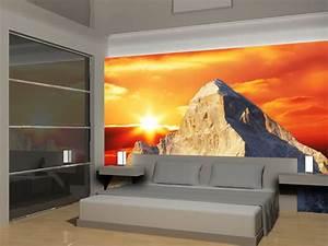 Tapete Mit Eigenem Foto : fototapete blick aus dem fenster berge ~ Sanjose-hotels-ca.com Haus und Dekorationen