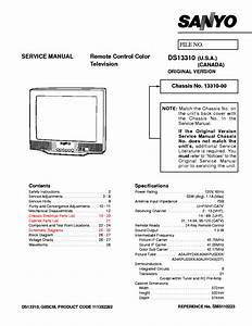 Sanyo Ds13310 Service Manual Download  Schematics  Eeprom