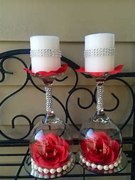 Best Homemade Wine Glass Candle Holders Ideas And Images On Bing