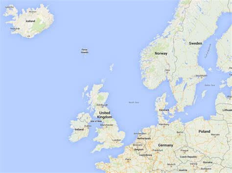 map  north western europe  travel information