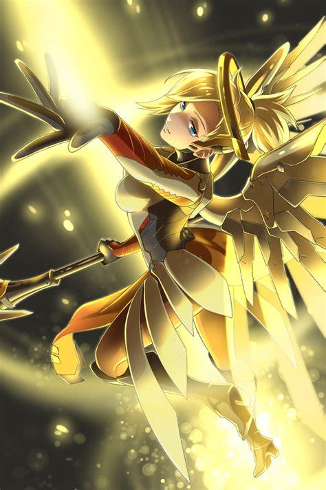 mercy overwatch zerochan anime image board