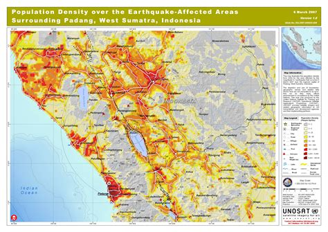 population density   earthquake affected areas