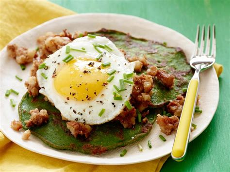 St. Patrick's Day Spinach Pancakes and Corned Beef Hash ...