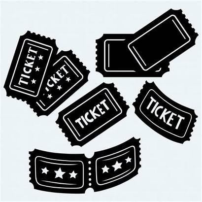 Tickets Ticket Cinema Vector Silhouette Background Raffle
