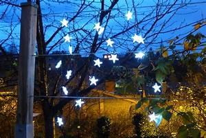 Guirlande Lumineuse Jardin : guirlande solaire etoiles 20 leds blanches 3m80 ~ Melissatoandfro.com Idées de Décoration