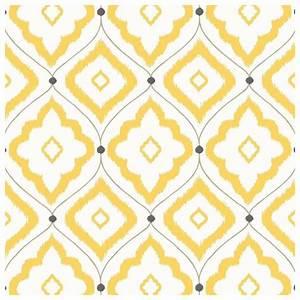 Le Papier Peint Jaune : papier peint bungalow treillis de couleur jaune grise ~ Zukunftsfamilie.com Idées de Décoration
