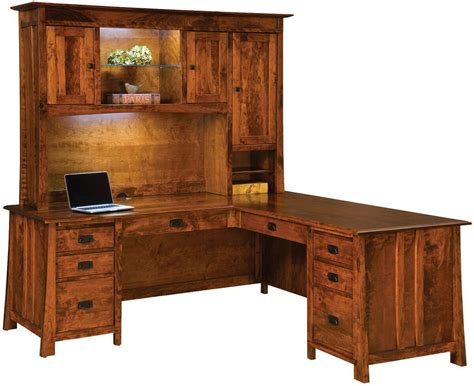 Dresden L-shaped Desk With Hutch