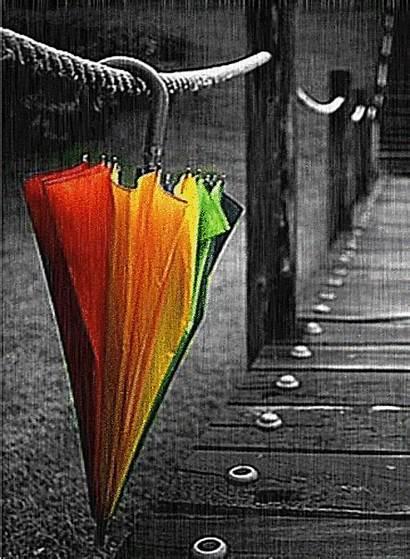 Rain Umbrella Falling Raining Days Animated Unbrella