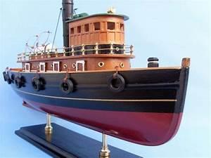 Buy Wooden River Rat Tugboat Model - Wholesale Sealife Decor