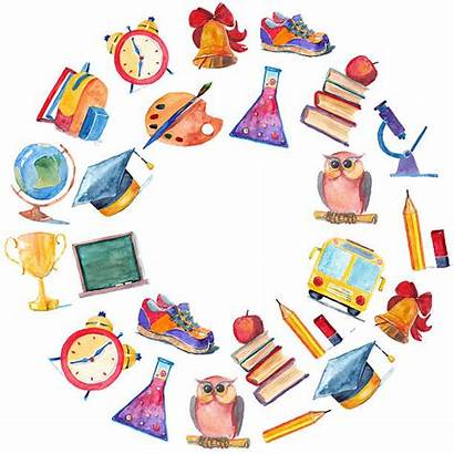 Education Watercolor Clipart Icons Illustration Classroom Illustrations