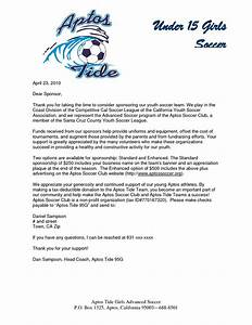 Fundraising Donation Letter Template Parent Thank You Letter From Youth Athletes Sponsorship