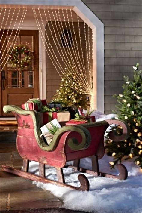 sleigh decorations 33 creative and fun sleigh d 233 cor ideas for christmas digsdigs
