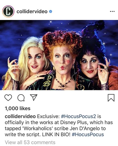 Breaking News: Hocus Pocus Sequel is in the works! - on ...