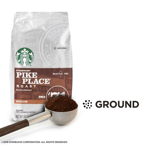 Pike place® roast from our first store in seattle's pike place market to our coffeehouses around the world, customers requested a freshly brewed coffee they could enjoy throughout the day. Starbucks Medium Roast Ground Coffee — Pike Place Roast — 100% Arabica — 1 bag (20 oz ...