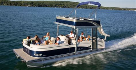 Used Pontoon Boats With Upper Deck For Sale by Lake Michigan Party Pontoon Boat Partyboat1 Pontoon With