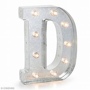 Lettre Metal Vintage : lettre lumineuse en m tal vintage d 25 x 18 5 x 4 5 cm lettre lumineuse led creavea ~ Teatrodelosmanantiales.com Idées de Décoration