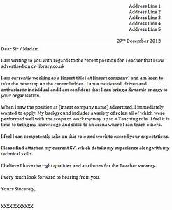 cover letter for a teacher icoverorguk With covering letter for cv uk
