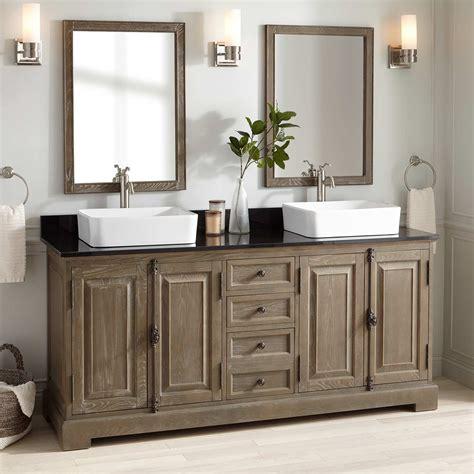 grey bathroom cabinets 72 quot chelles vessel sink vanity gray wash bathroom 13028