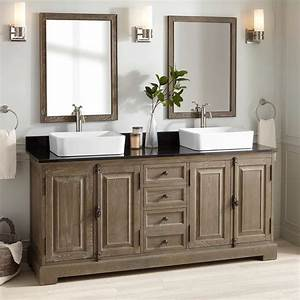 72, U0026quot, Chelles, Double, Vessel, Sink, Vanity, -, Gray, Wash