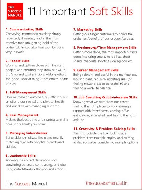 Type Of Skills For Resume by The Success Manual The Success Manual
