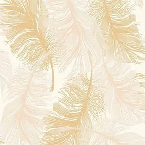 Coloroll Feather Cream Wallpaper M0926
