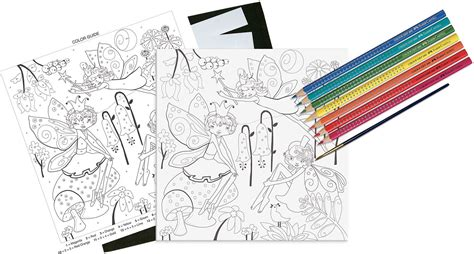 paint by number garden with watercolor ecopencils