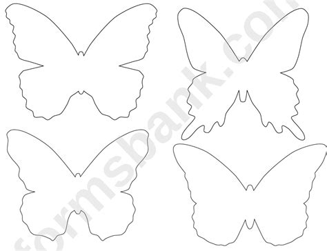 blank butterfly templates printable