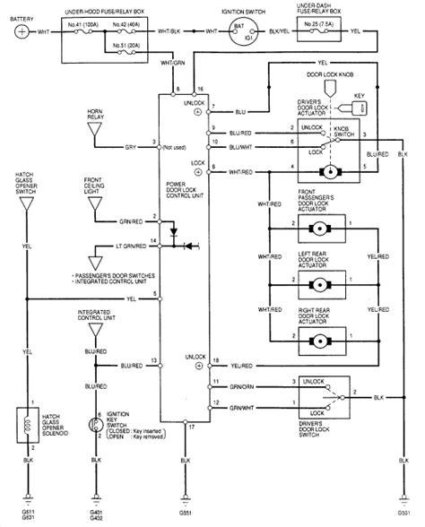 Honda Accord Door Lock Wiring Diagram by The Electric Door Locks On My 1997 Honda Crv Are