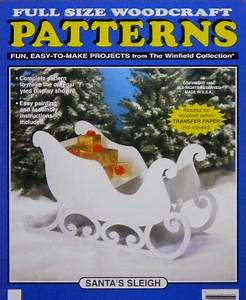 Santa's Sleigh Large Size Wood Craft Pattern