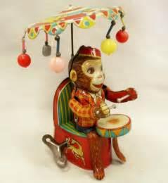 Vintage Mechanical Monkey Toy