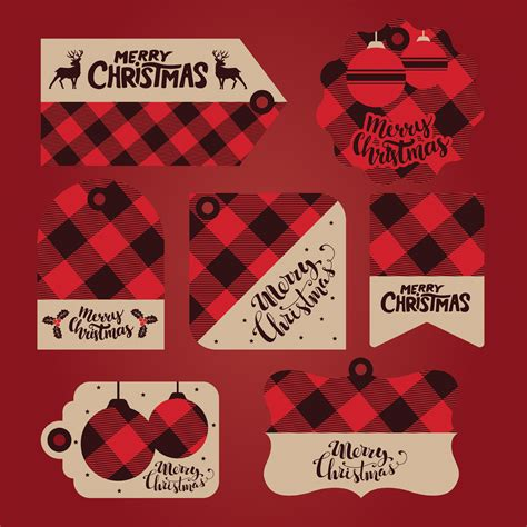 christmas gift tags vector pack   vectors