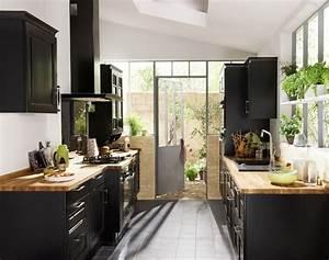 les 25 meilleures idees concernant cuisine noire et bois With meuble de cuisine rustique 9 table de cuisine bois gallery of table de cuisine ronde