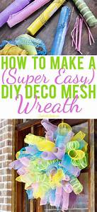 How To Make A  Super Easy  Diy Deco Mesh Wreath