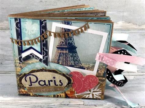 paris france mini scrapbook premade paper bag photo album