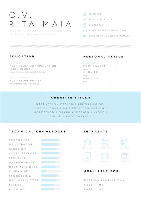 Resume Layout Design by 190 Best Resume Design Layouts Images On