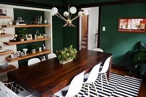 69, Stylish, Dark, Green, Walls, In, Living, Room, Design, Ideas