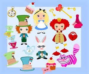 Alice Wonderland Characters Clip Art