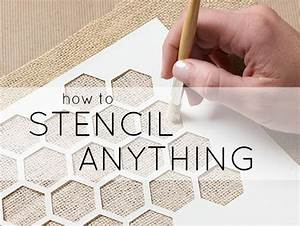 Learn how to stencil and stenciling tips plaid