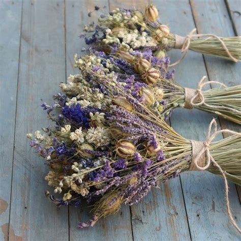provence dried flower wedding bouquet   artisan dried