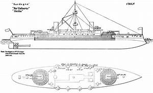 File Re Umberto Class Battleship Diagrams Brasseys 1896