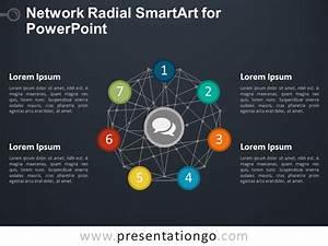 Network Radial Smartart For Powerpoint
