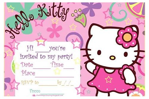 free download hello kitty party invitations
