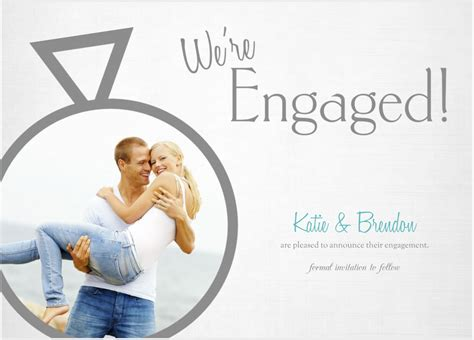 mixbook custom  flat engagement announcement cards