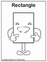 Coloring Shapes Rectangle Preschool Emoji Parallelogram Printable Shape Template Basic Resources Shizuko Nucele sketch template